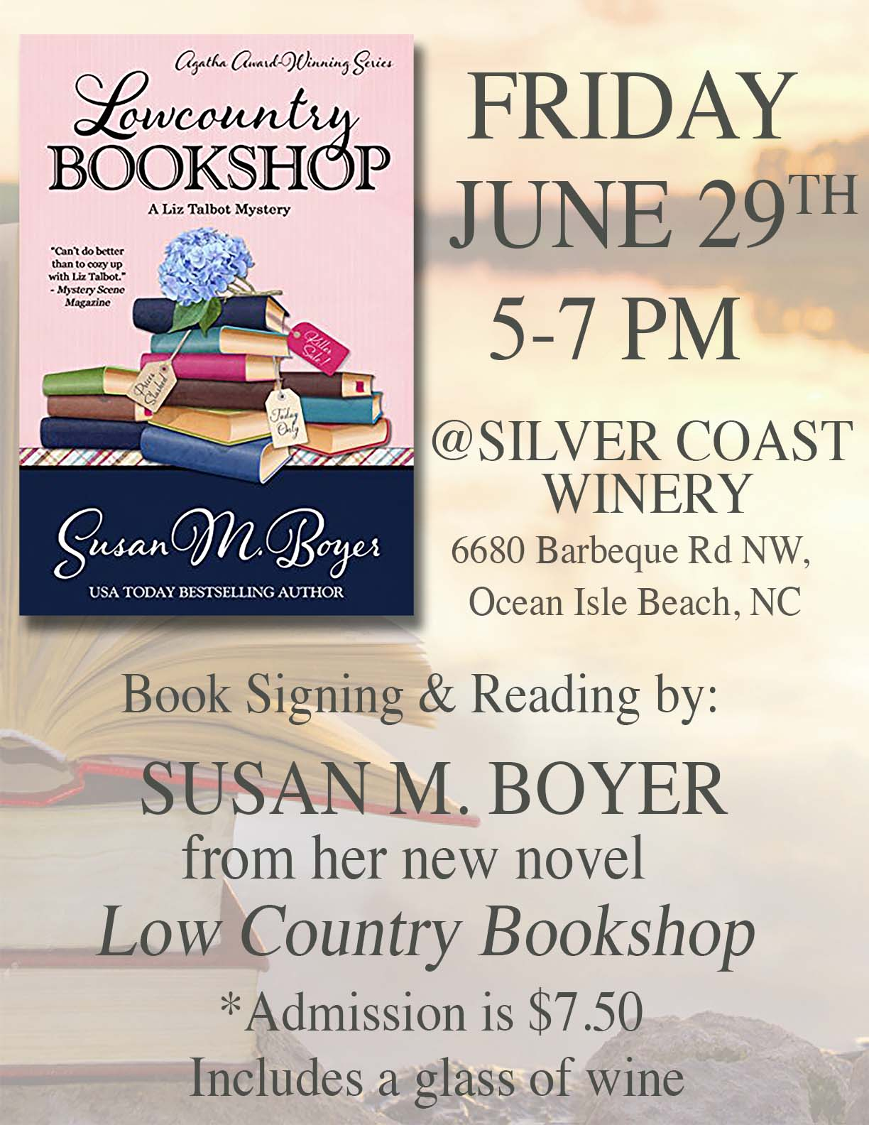 Susan M. Boyer Signing at Silver Coast Winery